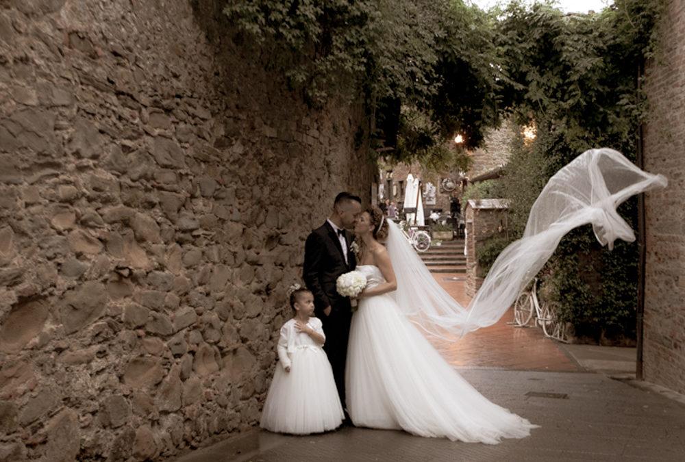 Matrimonio Fabio e Cristina, chiesa di San Rocco a Larciano, ricevimento Villa Petriccio