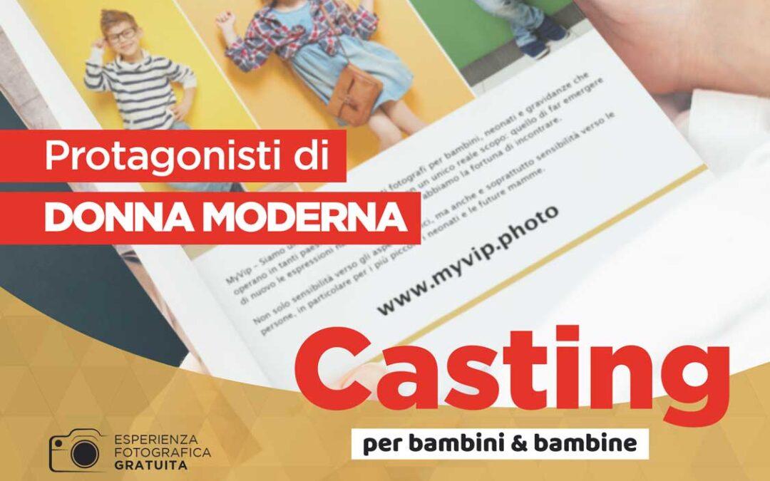 Casting per bambini su Donna Moderna